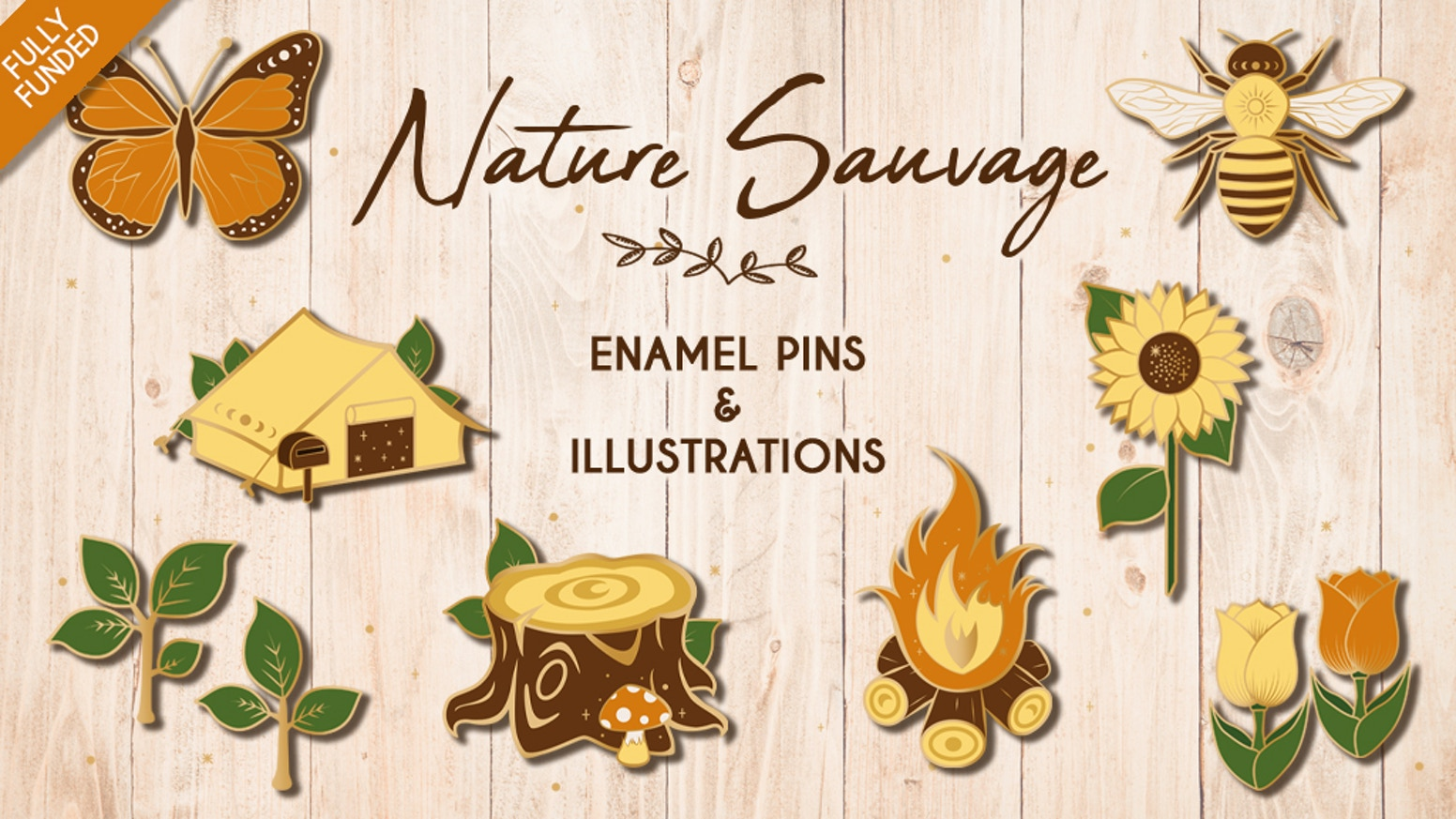 A collection of pins, illustrations, stickers & a tote bag inspired by the Animal Crossing universe and wild nature.