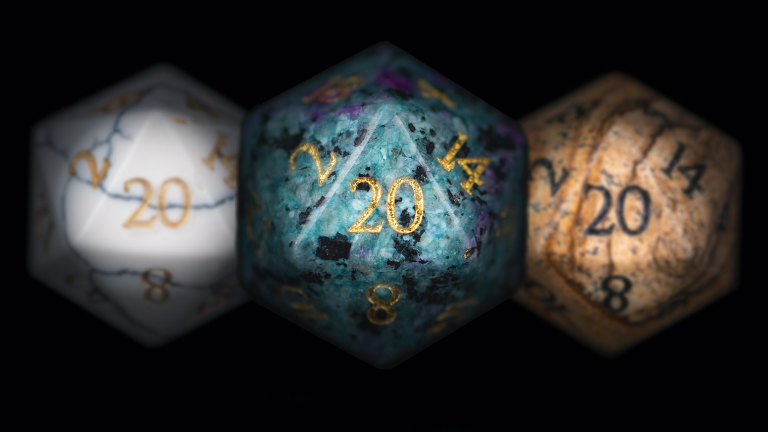 Pledge for your choice of single d20, full set of 7 polyhedrals, or extra 3d6, with standard or our innovative HIGH VARIANCE numbering!