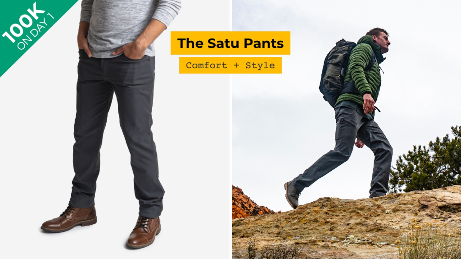 Built to stand the mountains, look good in the city, and keep you ultra-comfortable through it all.