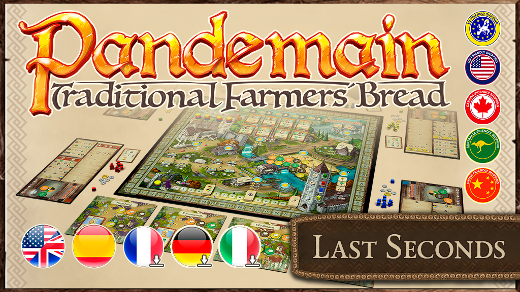 Pandemain: The euro-style game about medieval bread baking project video thumbnail