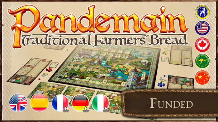Thematic worker placement euro-style game, 1-4 players, 60-120 min., where everyone will compete to be the best baker in the town.