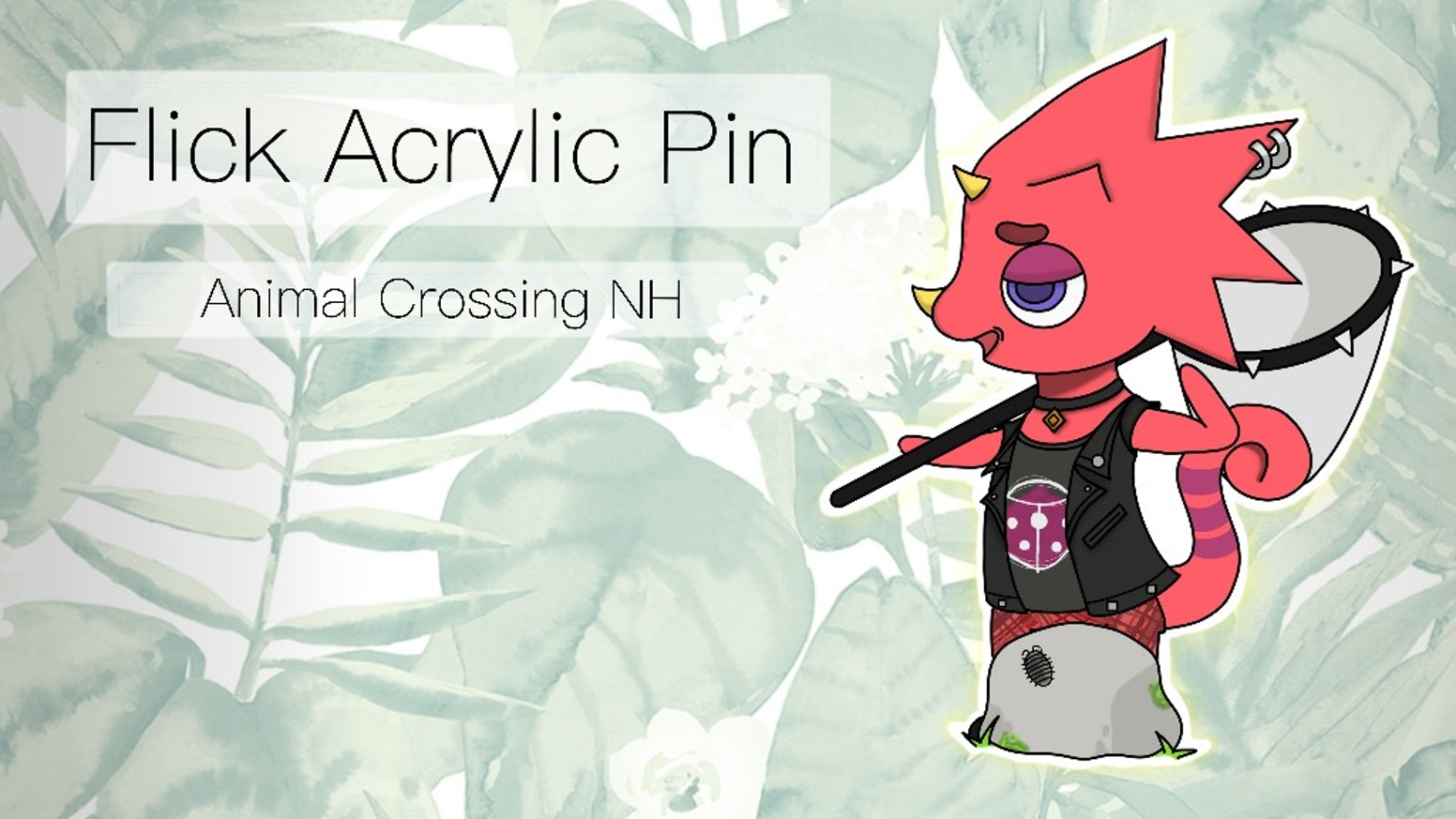 Flick Acrylic Pin By Spider Finder Kickstarter