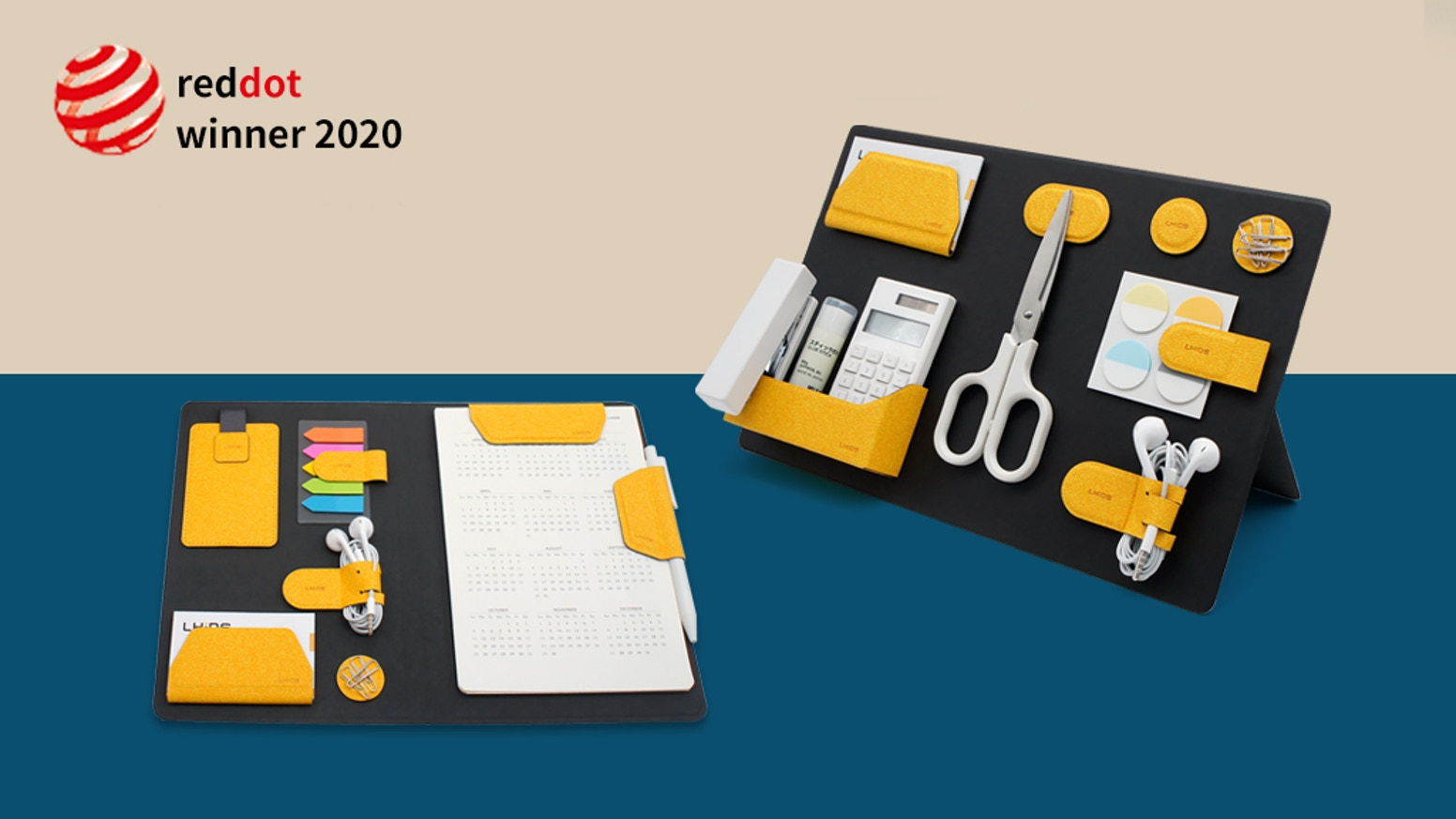 Solution for WorkFromHome, a portable, customizable and catch-all organizing kit that keeps your items tidy & boosts productivity.