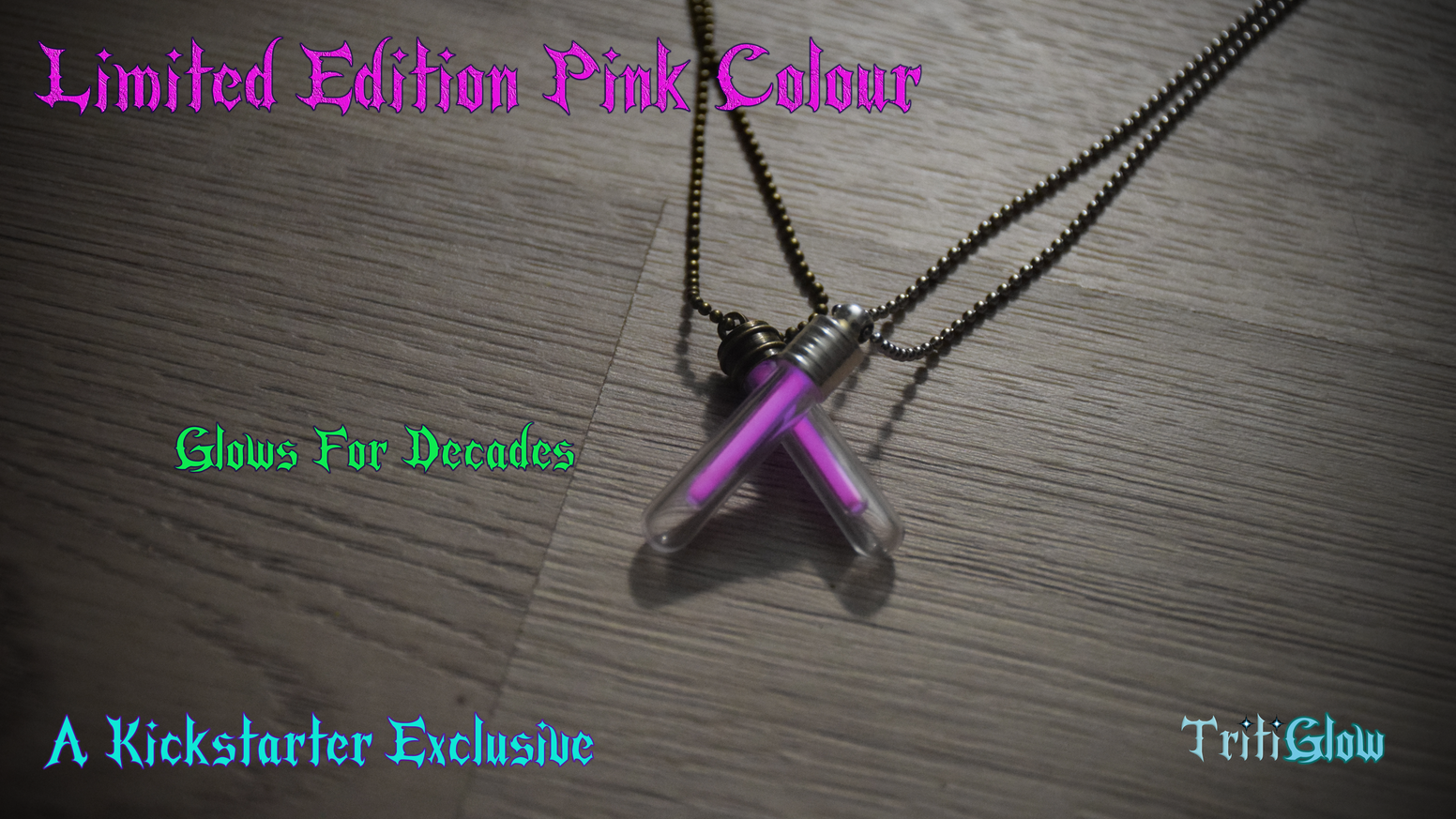 Pendants That Glow For Decades - An  exclusive pink colour (No longer available)