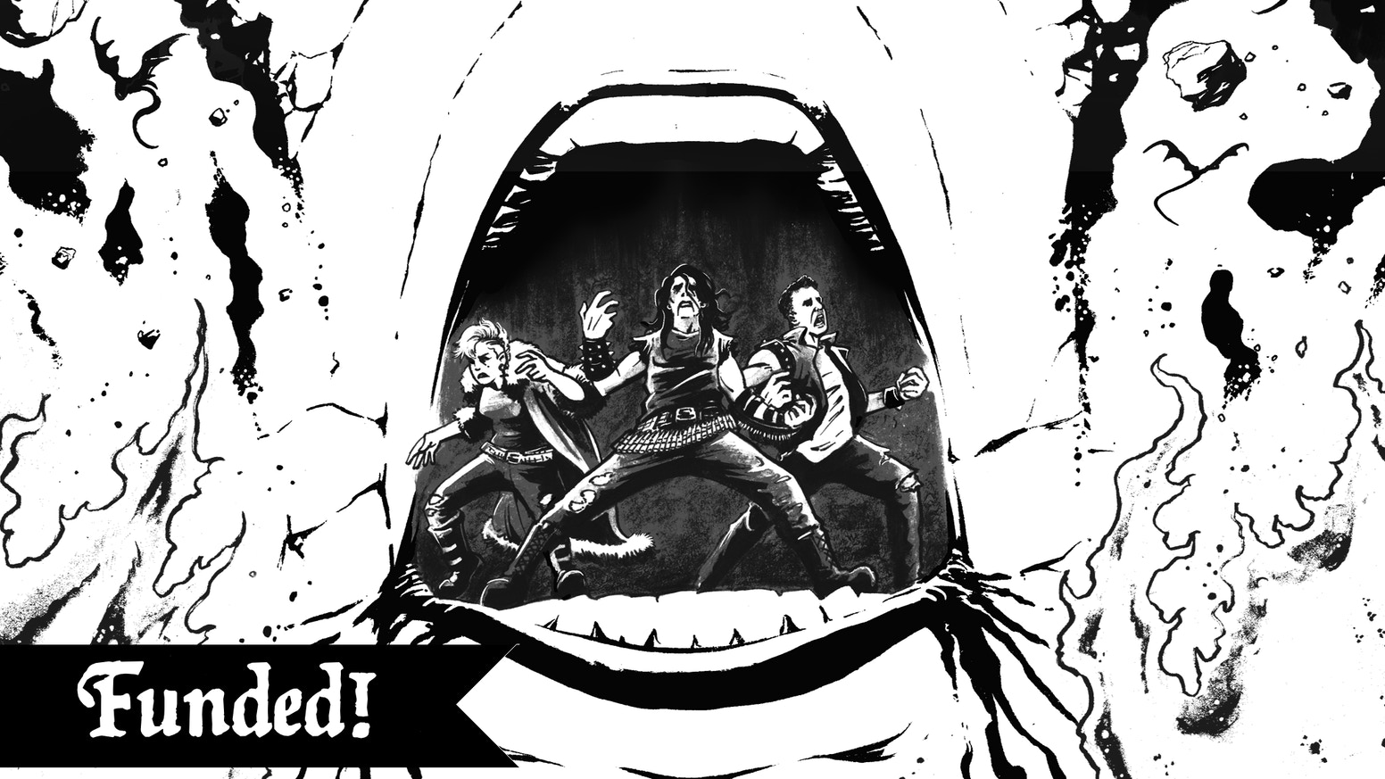 A B&W one-shot comic about a black metal band who accidentally open the gates of Hell.