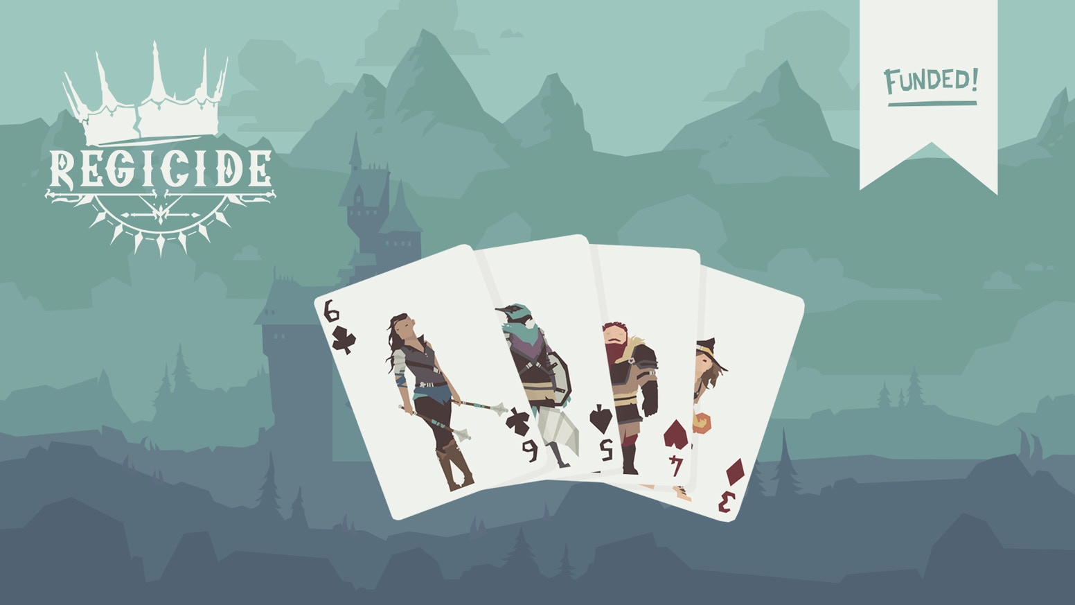 Regicide is a cooperative, fantasy card game for 1 to 4 players, with a deck of playing cards uniquely illustrated by Sketchgoblin.