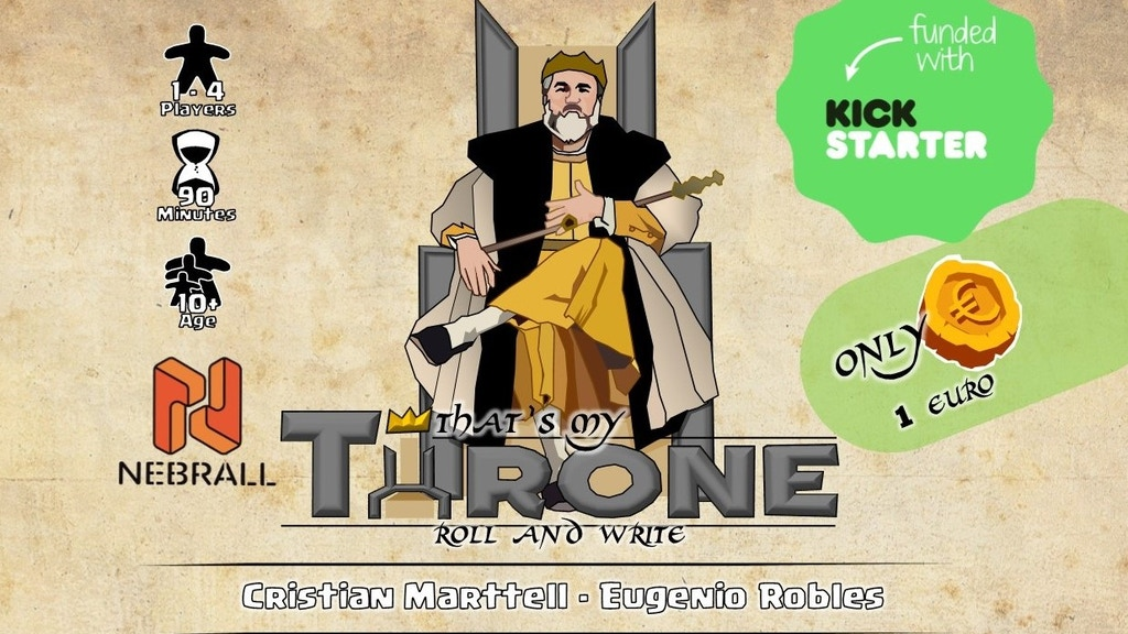 That´s My Throne - Roll&Write Game - Print&Play project video thumbnail