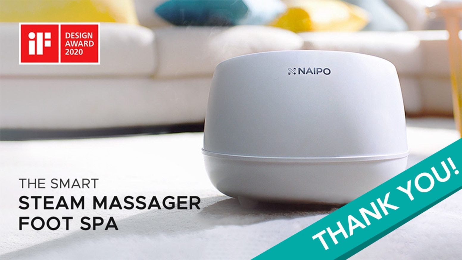 With less than a cup of water and one touch, you can enjoy a relaxing foot spa experience in the comfort of your home.