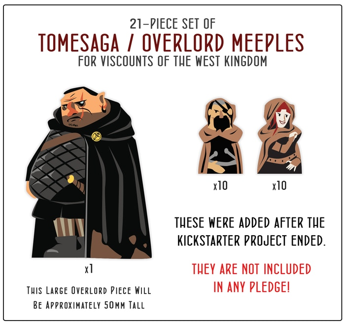 21-piece set of Tomesaga/Overlord Meeples for Viscounts of the West Kingdom