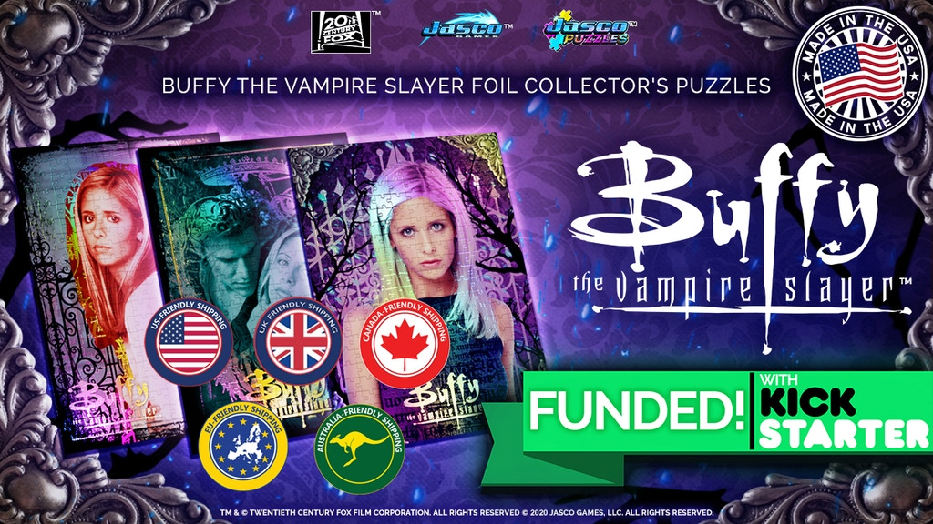 Buffy the Vampire Slayer Foil Jigsaw Puzzles & Board Games project video thumbnail