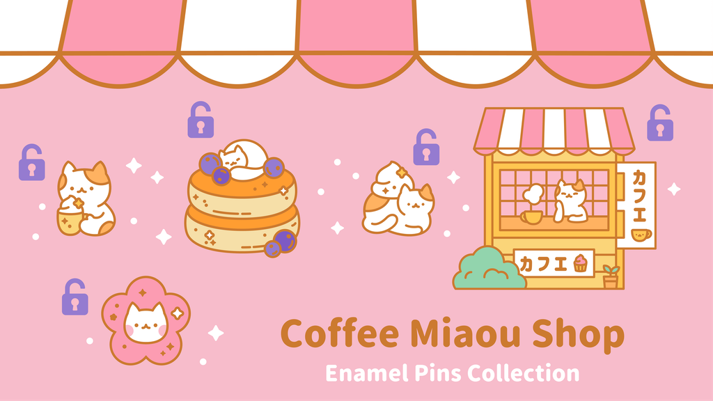 Une collection de pin's inspirés du Japon.