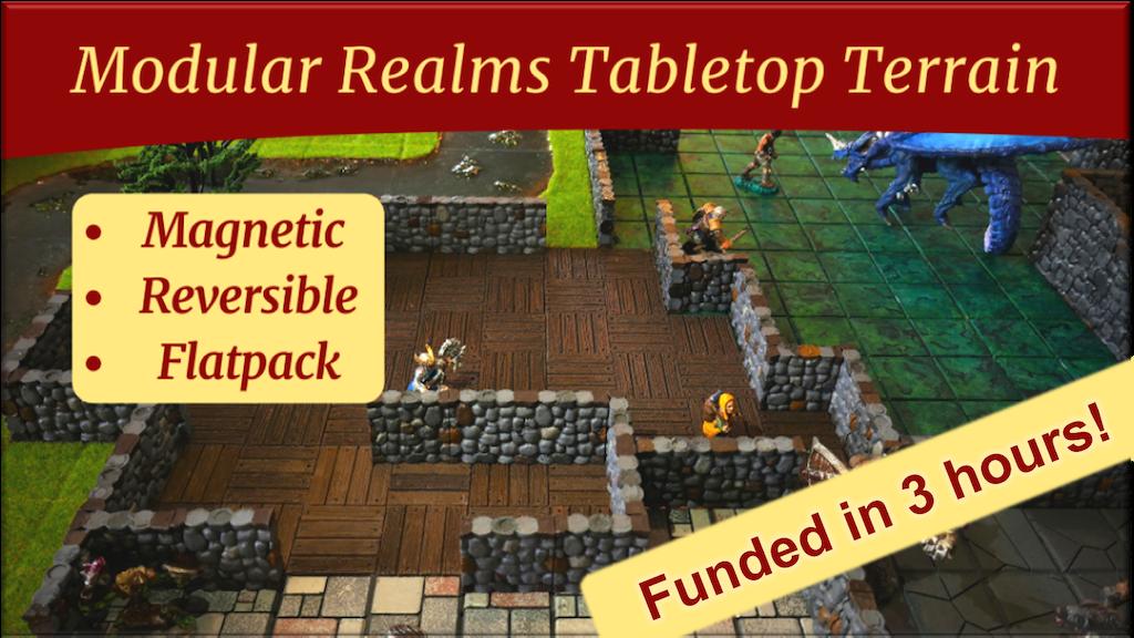 Modular Realms: magnetic, reversible game terrain! project video thumbnail