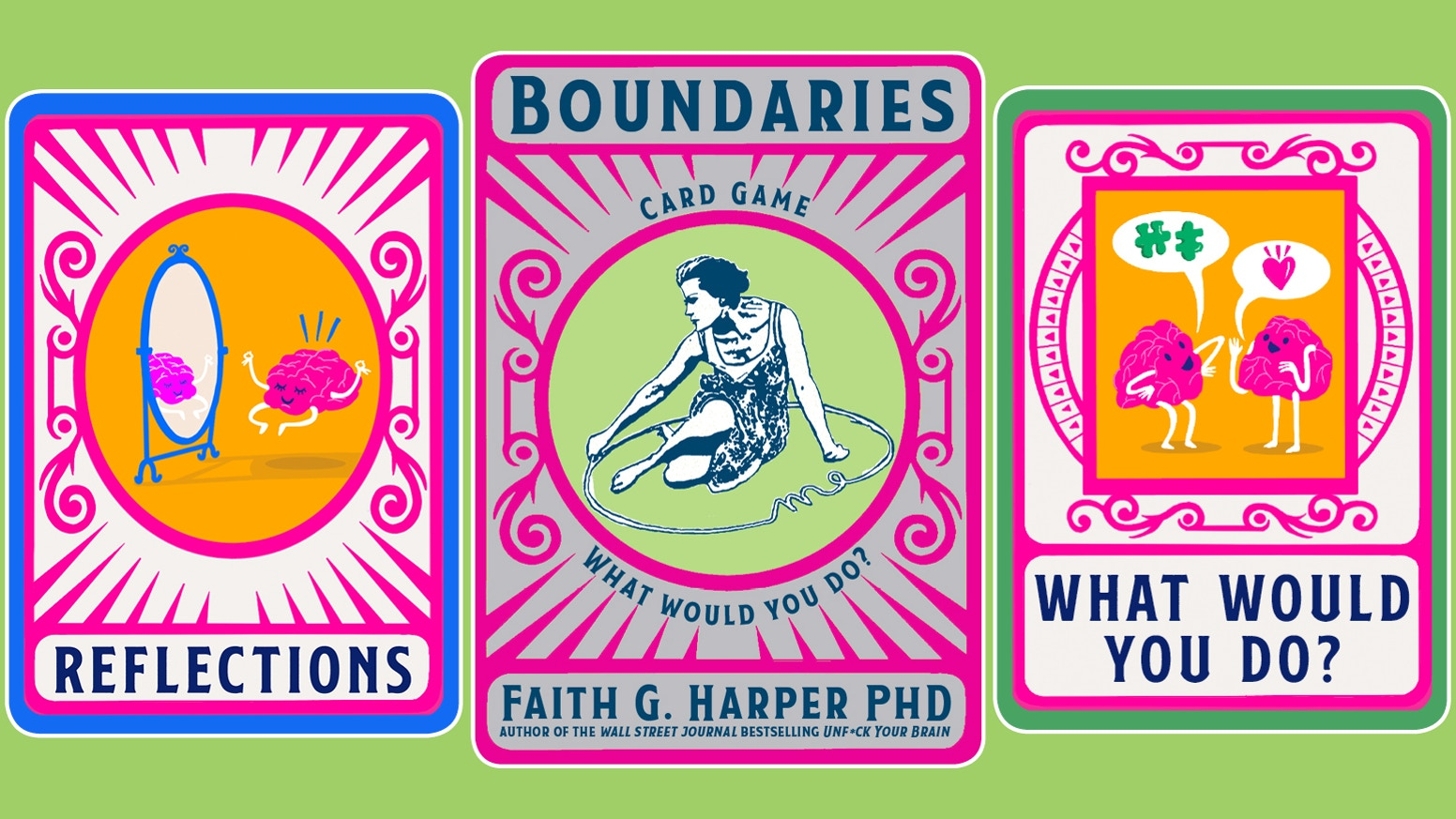 Dr. Faith Harper's card deck prompts reflection and discussion about boundaries and consent in our daily lives.