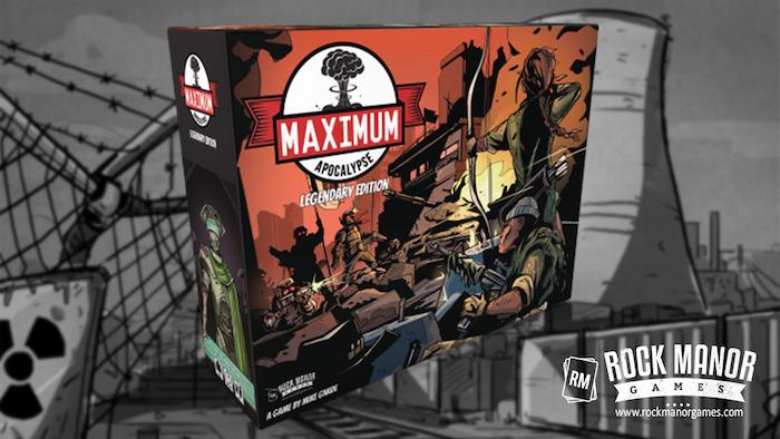 Maximum Apocalypse Legendary Box with Survivor Miniatures, storage tray solution, RPG quickstart guide and more!