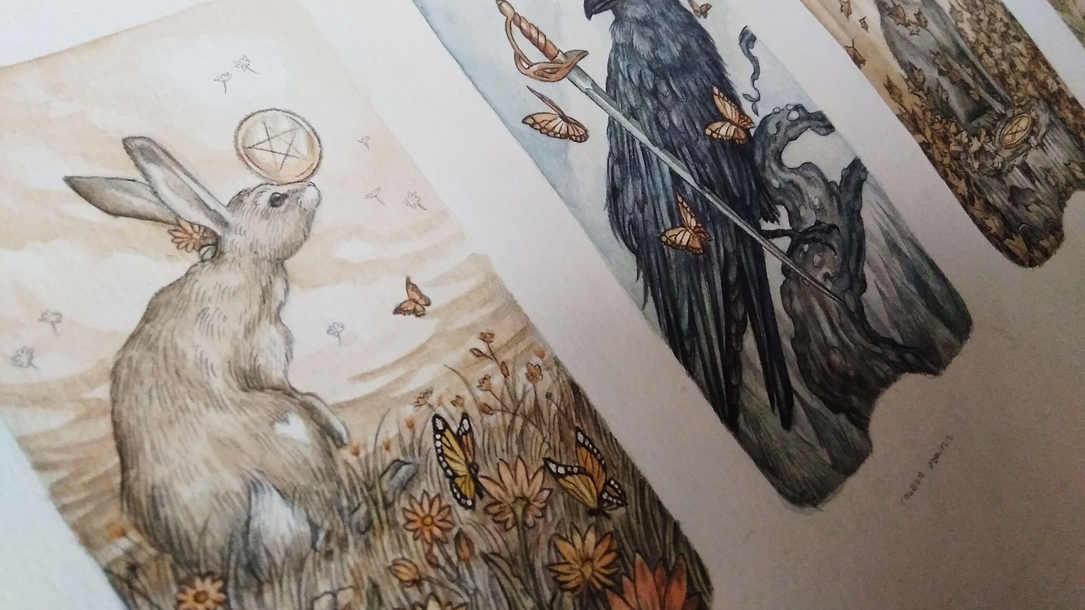 Beautiful Tarot Cards with Roots in the Enchanting, Natural World.