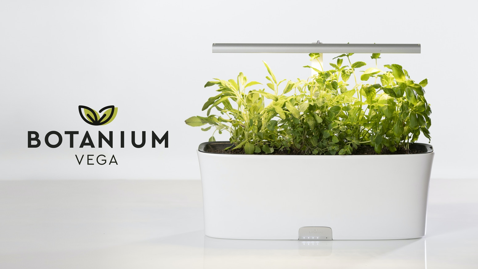 Grow edible greens easier. Featuring a long-lasting water tank, large growing space, a powerful built in lamp and app connectivity.