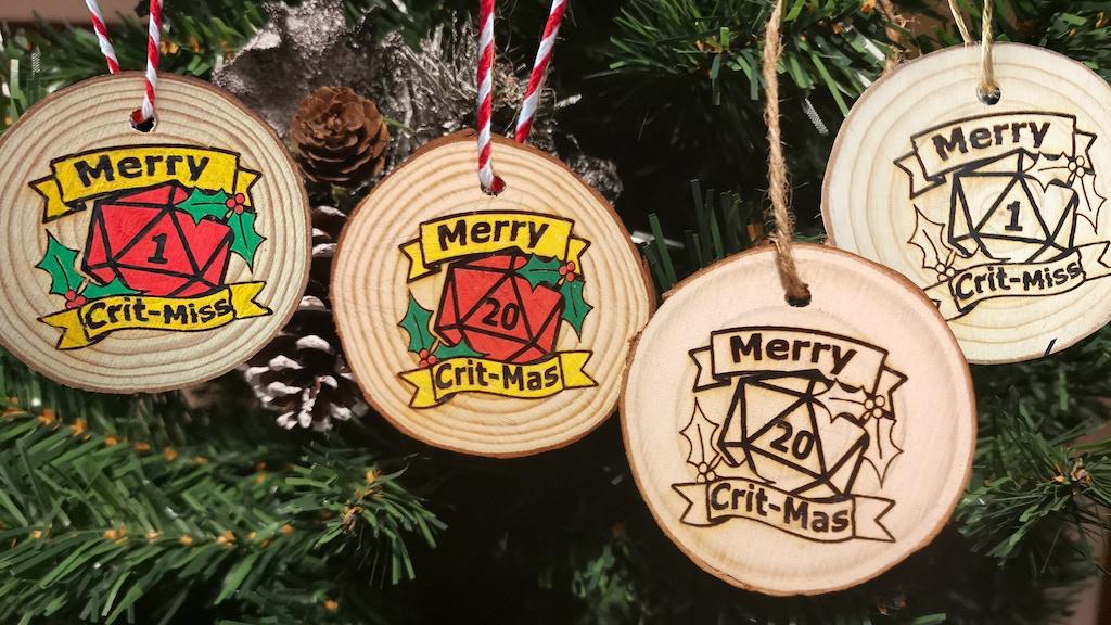 Project image for D20 D&D/DnD Christmas Decorations