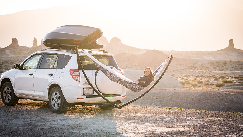 The Hammock Hitch by Rincon Outdoor - No Trees, No Problem