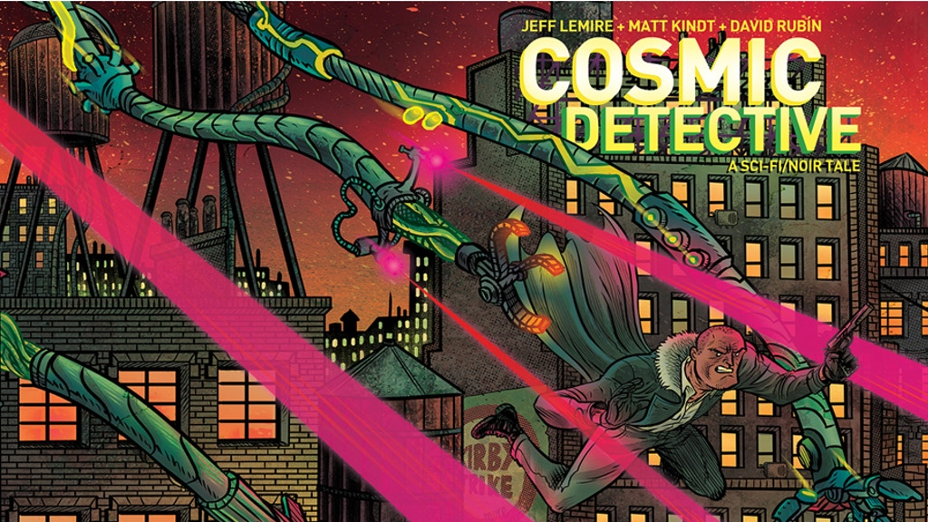 Project image for COSMIC DETECTIVE a graphic novel by Lemire, Kindt, Rubin