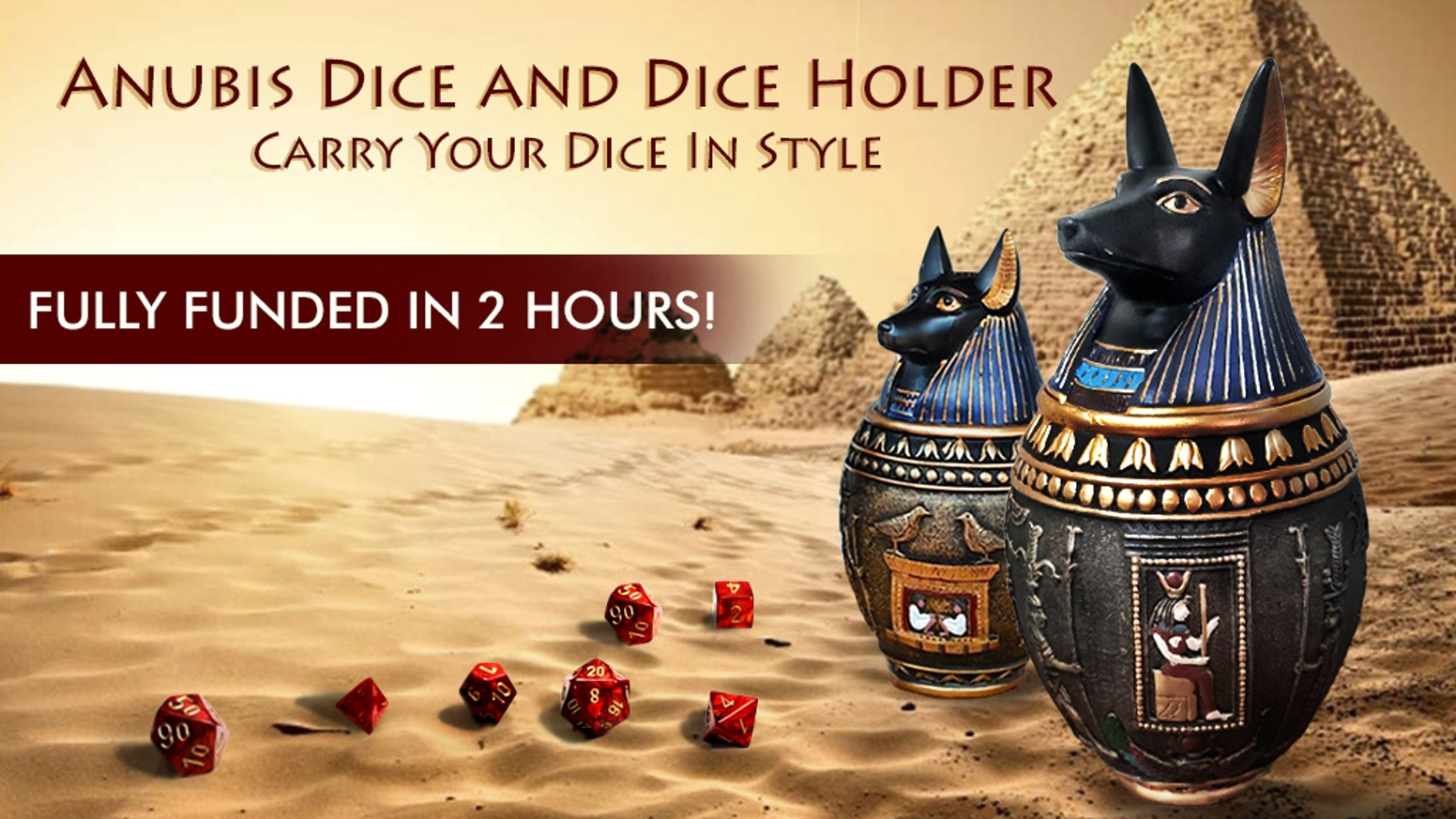 An Anubis Dice Holder and affordable dice sets that will make you roll 20s in style. Bring it to your next Dungeons and Dragons game!