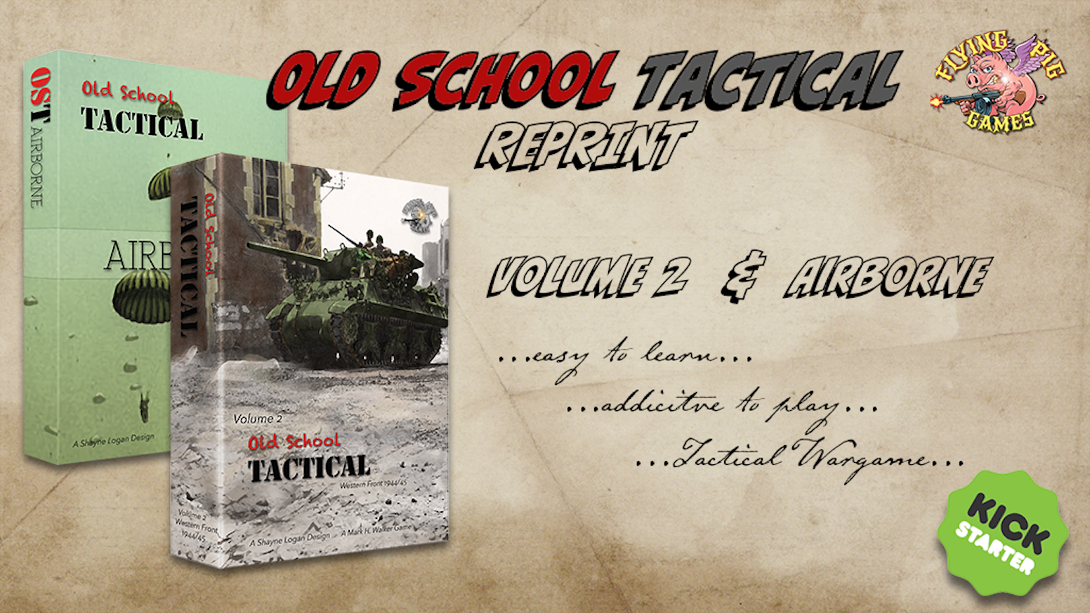The horror! We have sold out of Old School Tactical VOL II and its Airborne Expansion! Help us fund the reprinting of these classics!