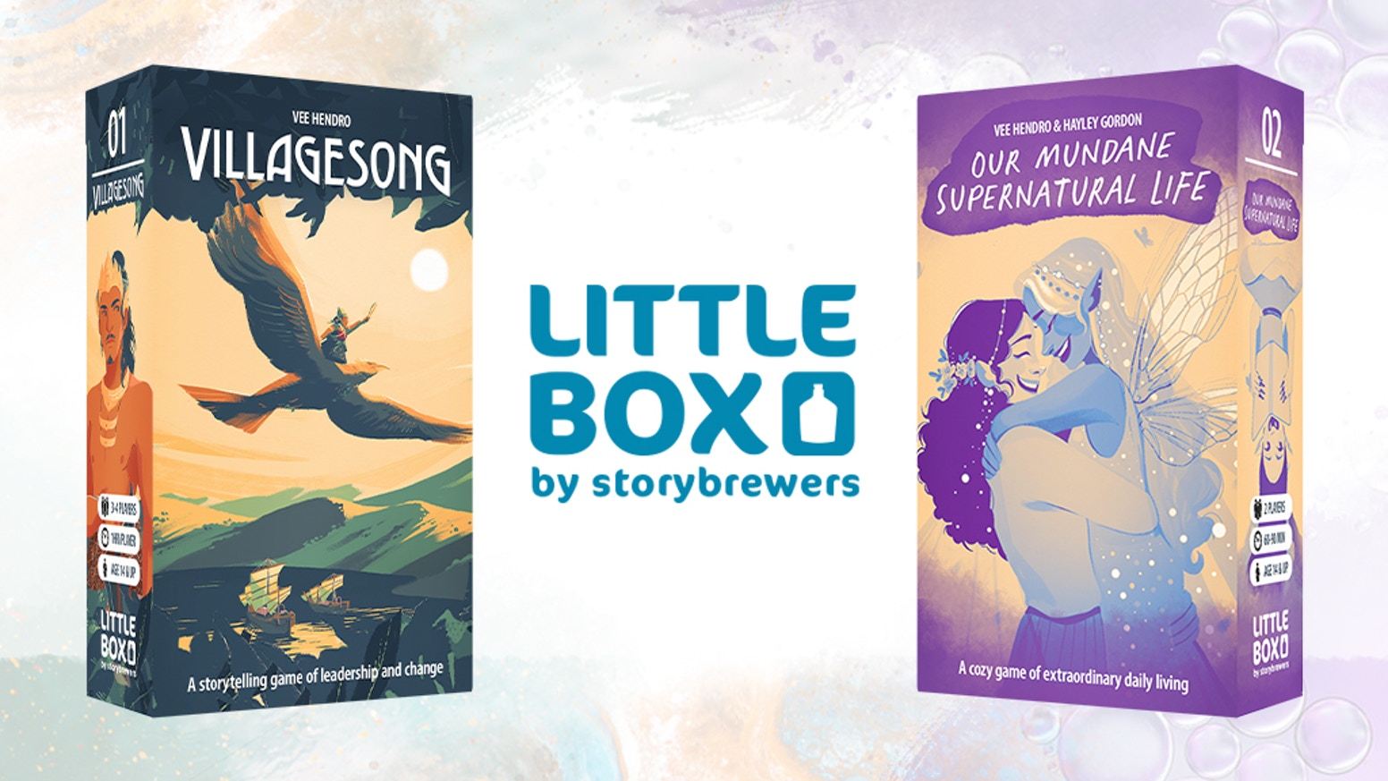Two no-prep, immersive, storytelling games you can take anywhere.  Open the box and start playing!