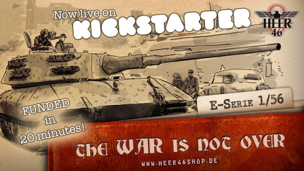 The War is not over: E-100 Panzer in 1/56 project video thumbnail