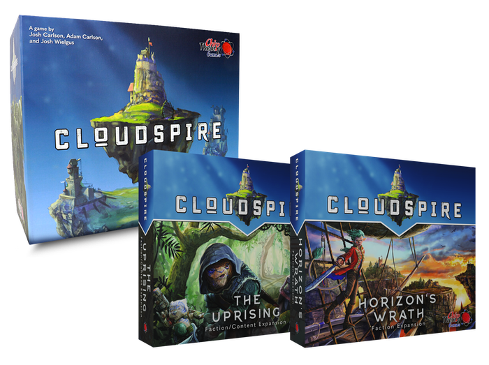 Two new unique factions, additional solo and co-op scenarios, and a reprint of the base game of the award-winning Cloudspire.