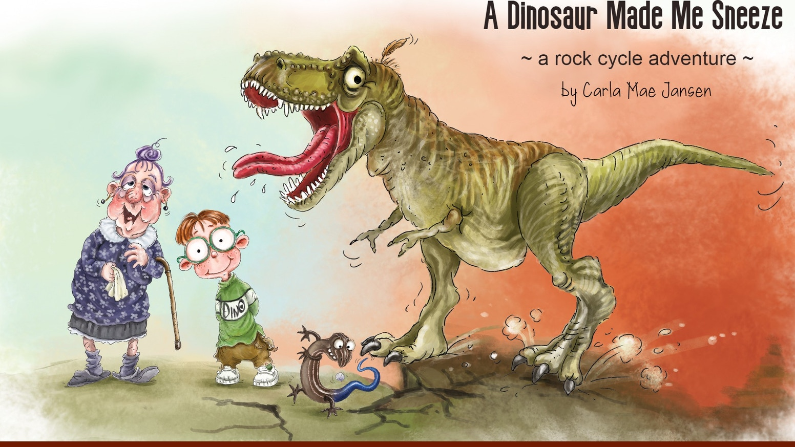 A children's book that takes you on a rock cycle adventure with dinosaurs, a crazy skink, sneezes, volcanoes, and more!Join us at www.TurtleTrailsPublishing.com to learn more and order now!!