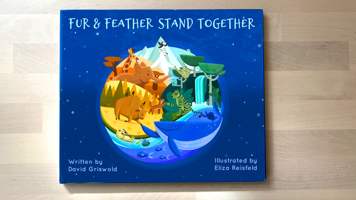 A picture book about animals and people across the globe standing together against climate change.