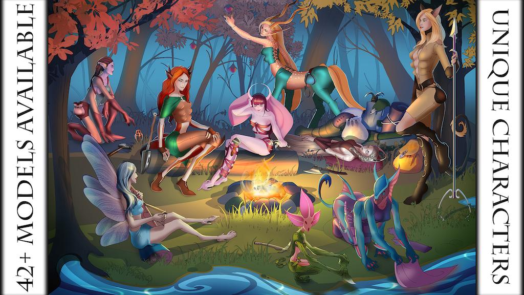 Women of Gevurah : Fantasy 3D Printable Tabletop Miniatures project video thumbnail