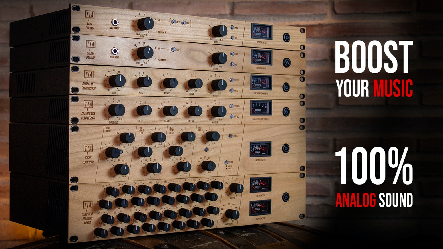 MAKE YOUR MUSIC EXPLODE with our new Analog Edition of Pro-Audio equipment for recording, mixing and mastering.