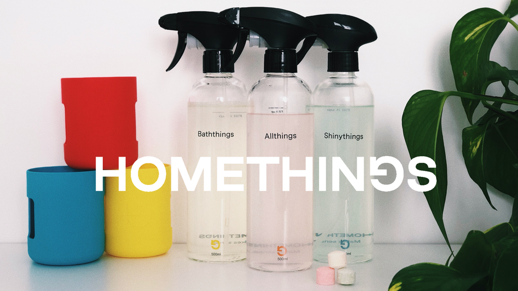 Homethings: refillable cleaning bottles + non-toxic tabs project video thumbnail