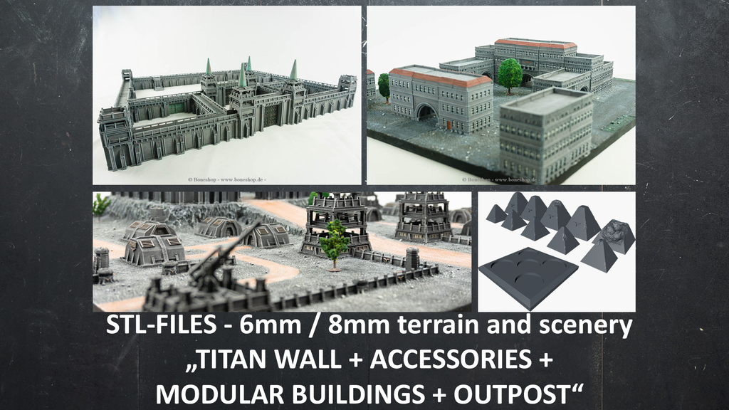 Support free STL 3D-printable 6mm-8mm scenery and terrain project video thumbnail