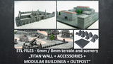 Support free STL 3D-printable 6mm-8mm scenery and terrain thumbnail