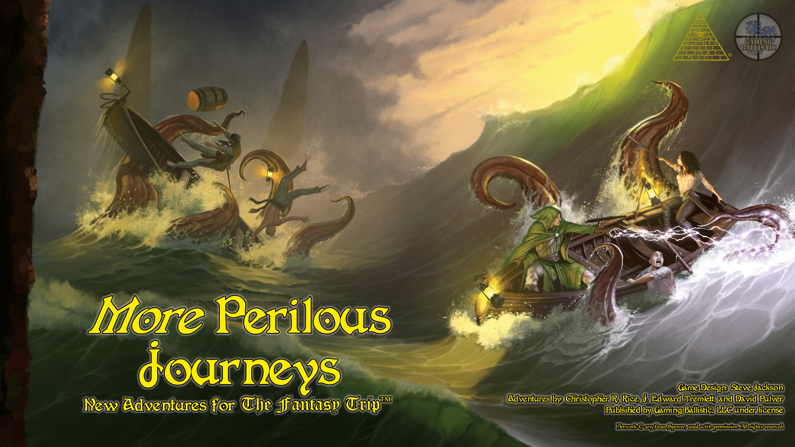Five new adventures for Steve Jackson Games' The Fantasy Trip. Published by Gaming Ballistic, LLC.