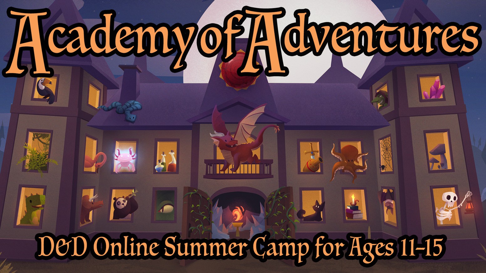 Five days of fun as kids learn to play D&D, build exciting characters, and begin their heroic adventures!