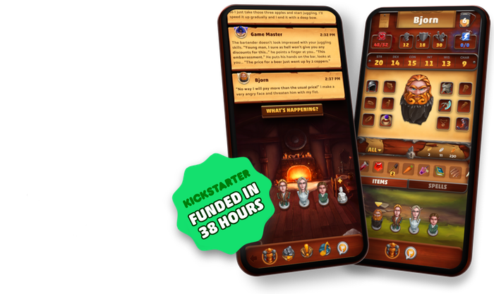 Fireball RPG is a fantasy role-playing app bringing Game Masters and Players together to experience thrilling adventures.