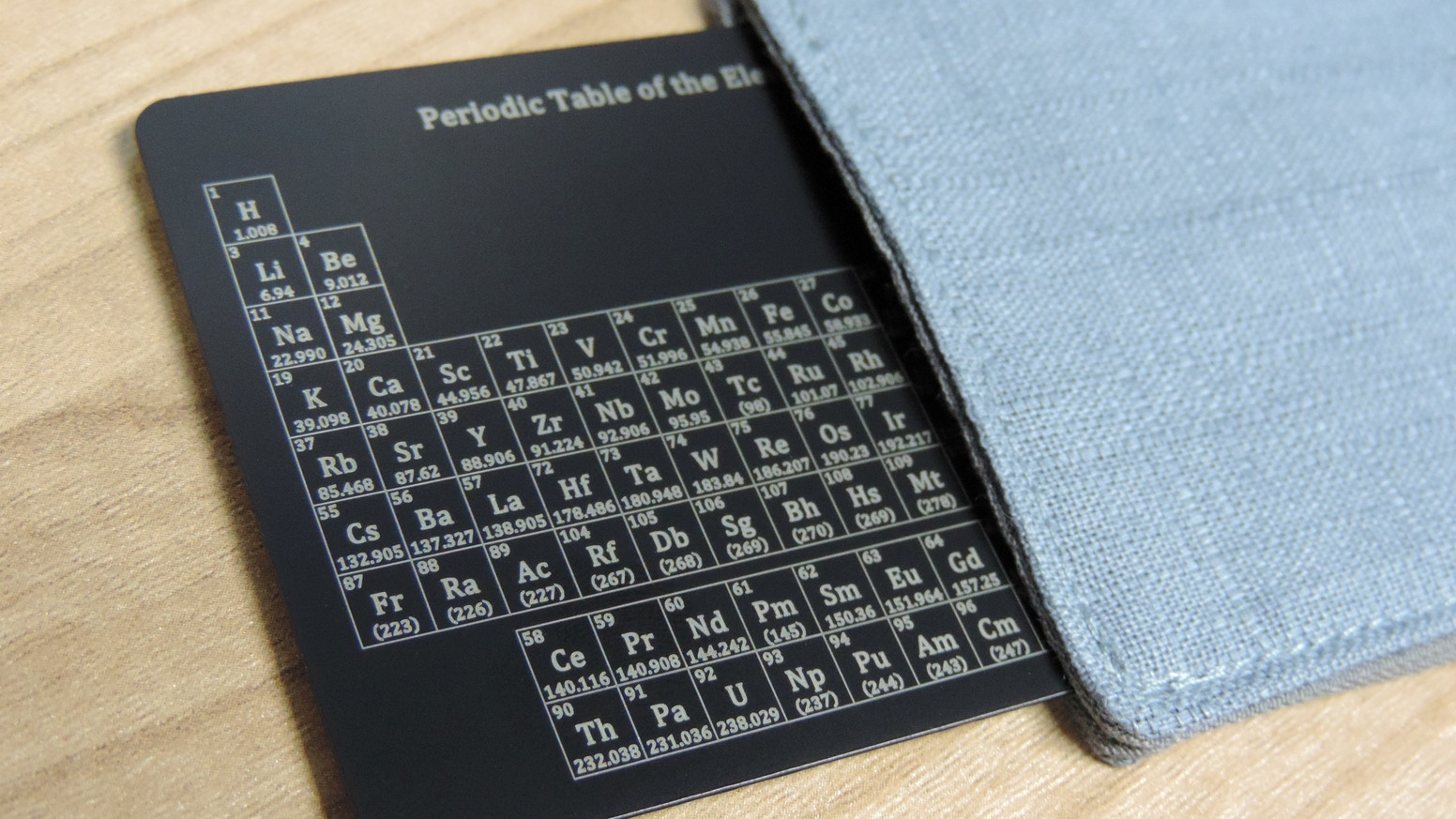 A Pocket-Sized Periodic Table - Laser Engraved on a Metal Card