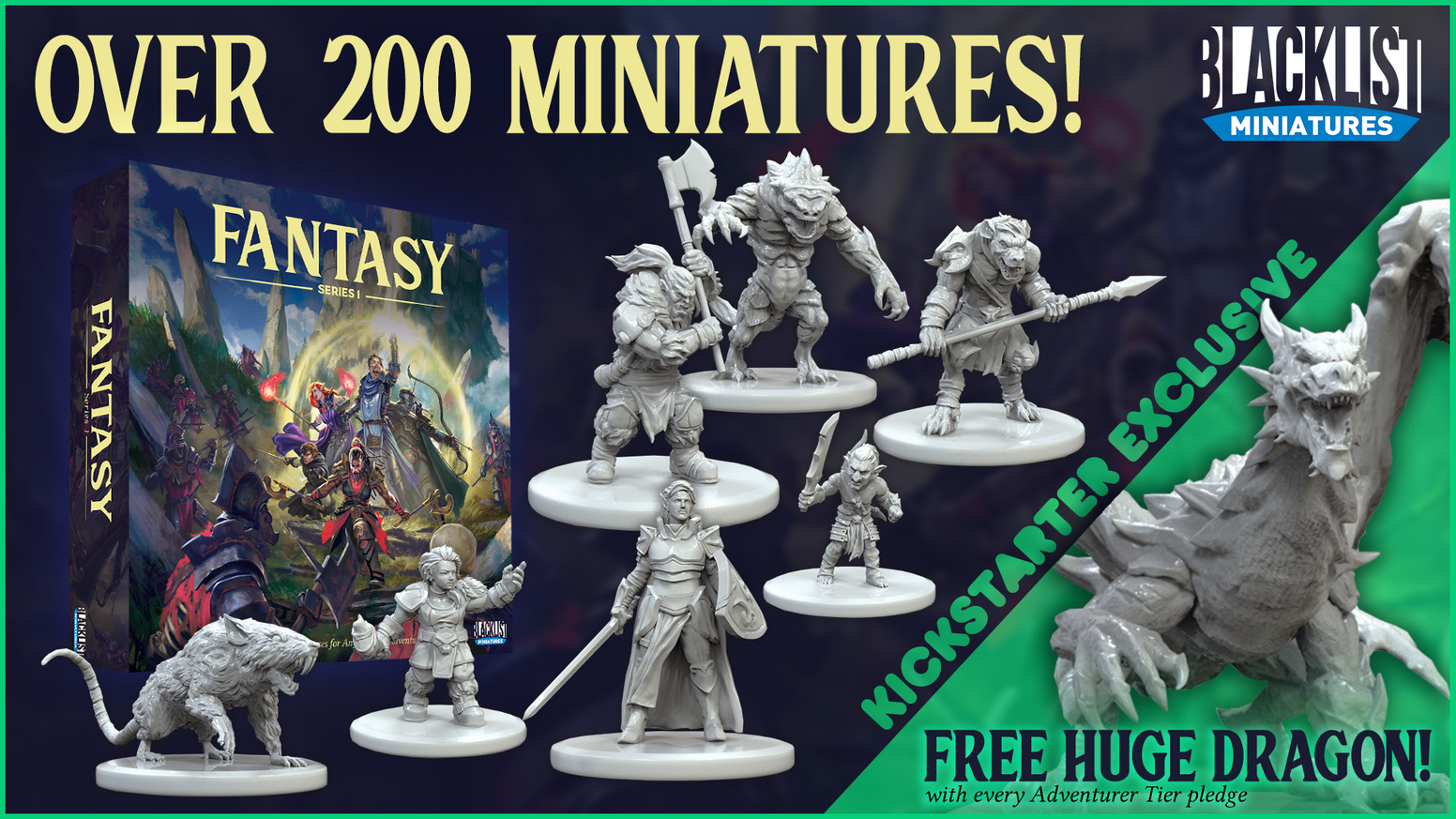 A new line of detailed plastic miniatures for use in any fantasy game.