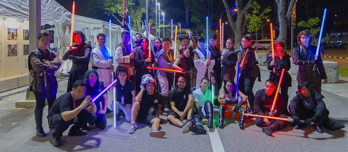 Fightsaber group photo