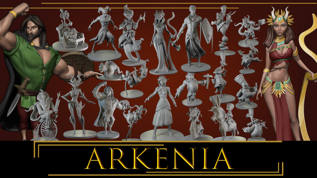 Project image for ARKENIA'S HEROES & CREATURES- STL Files for 3D Prints