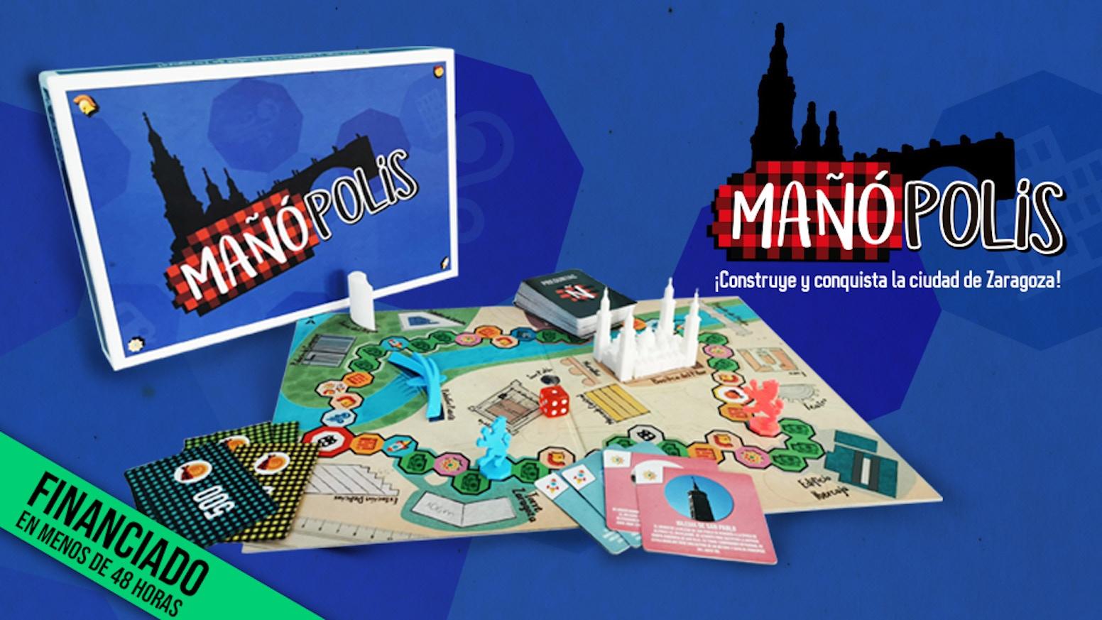 Mañópolis, el juego de mesa inspirado en la historia de Zaragoza. ¿Serás capaz de edificar y conquistar la ciudad al completo?
