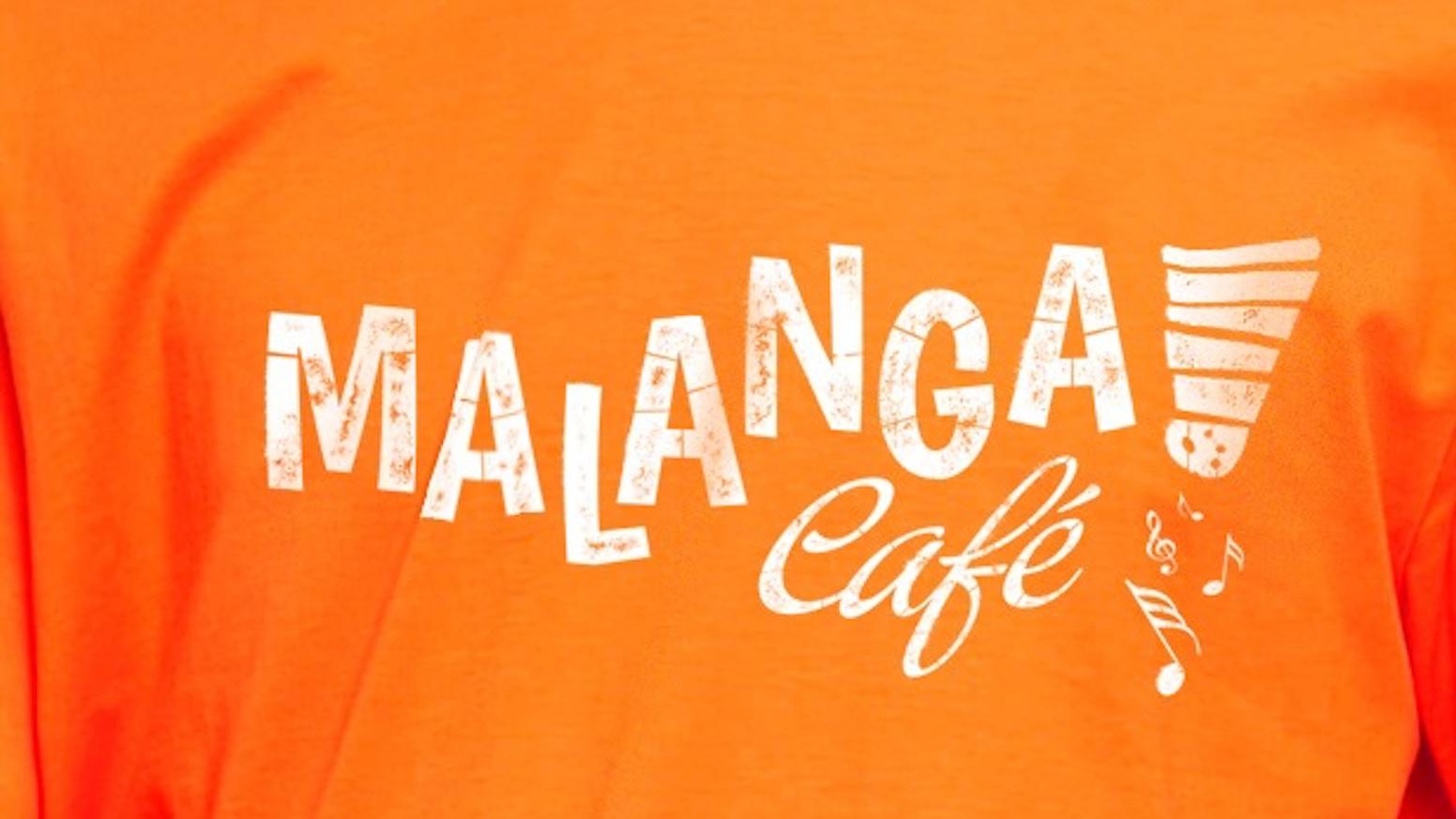 Camisetas, bolsas de tela, pegatinas y posters de Malanga Café