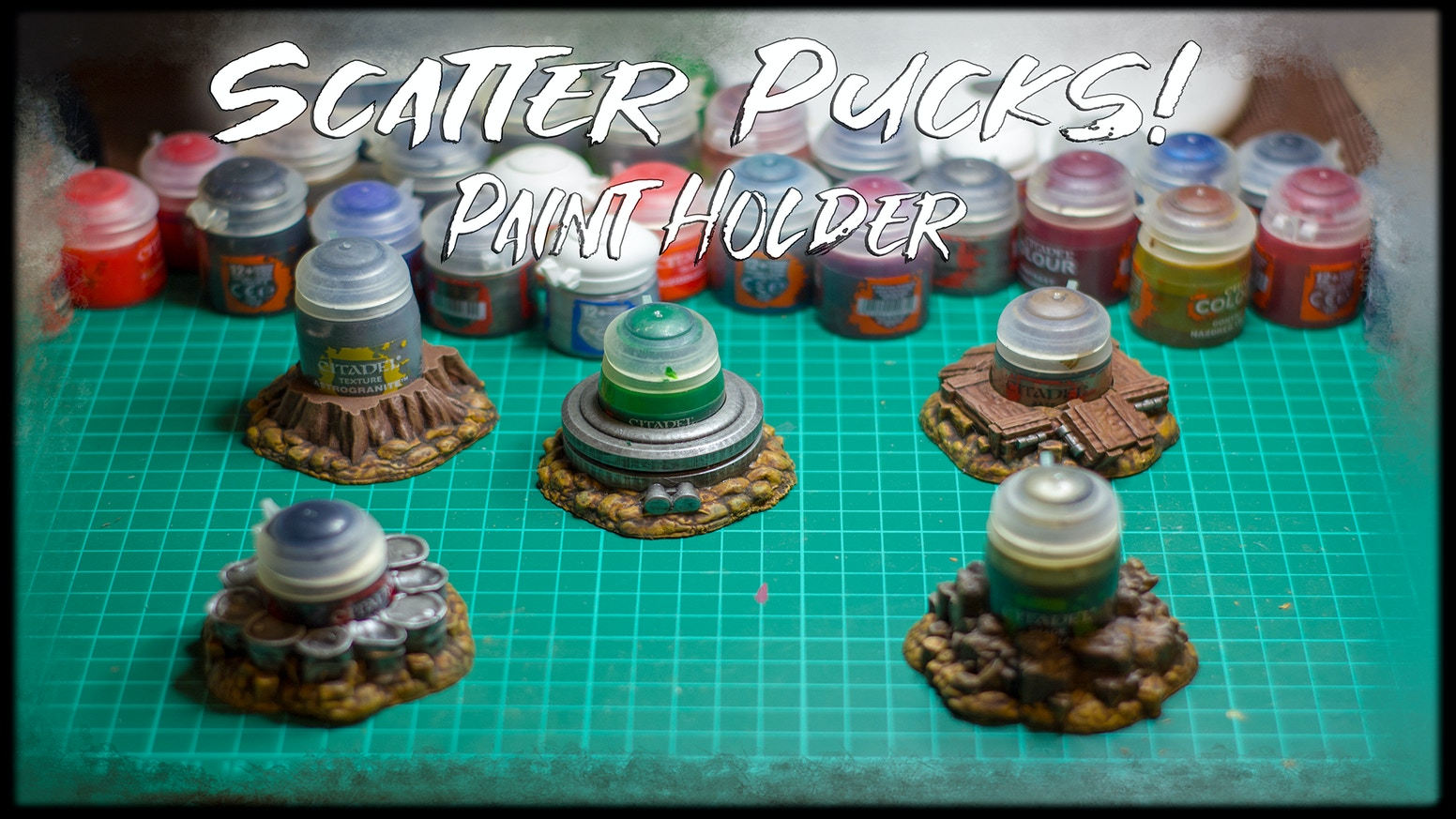 Scatter Pucks - Anti Spill Paint Holder compatible with Citadel® Paints Resin and STL - 3D Printable only £10 / $12!