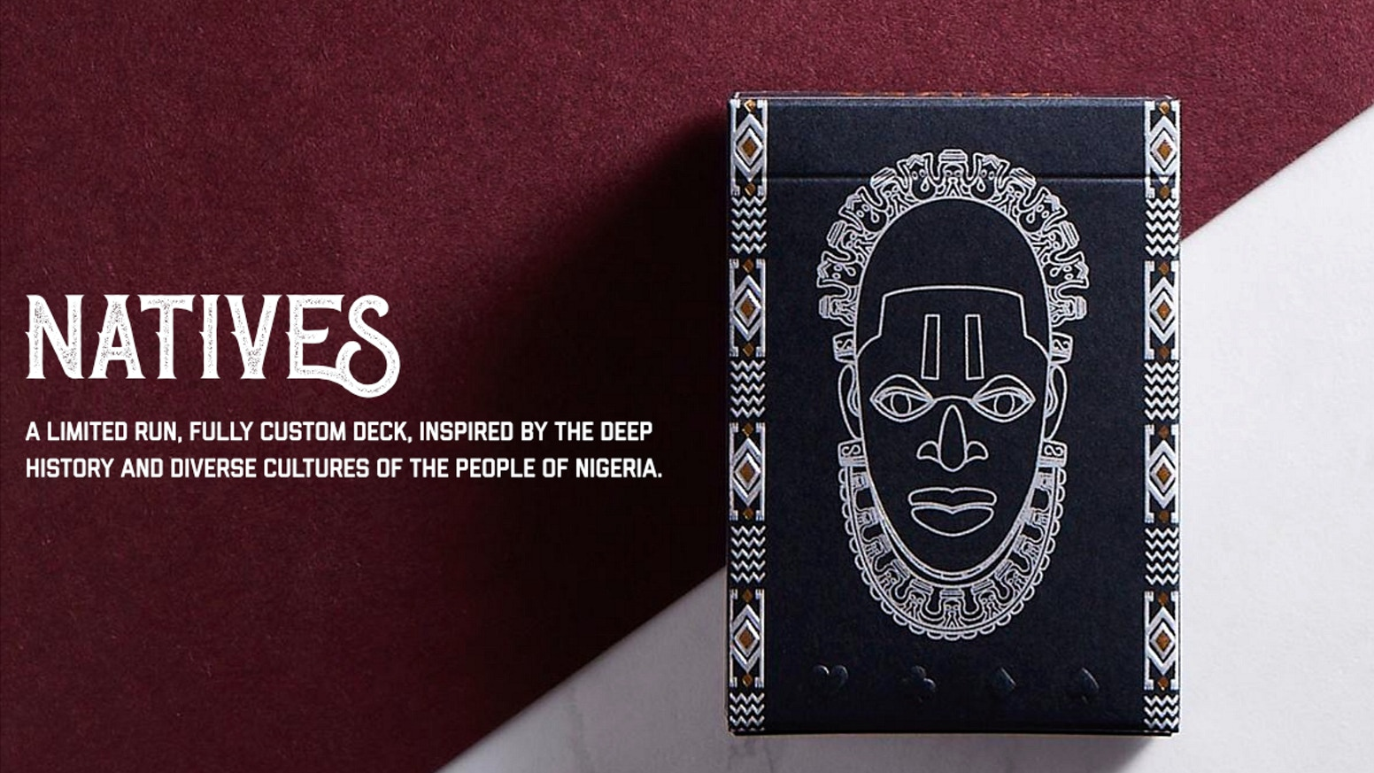 A limited run, fully custom deck, inspired by the deep history and diverse culture of the people of Nigeria.