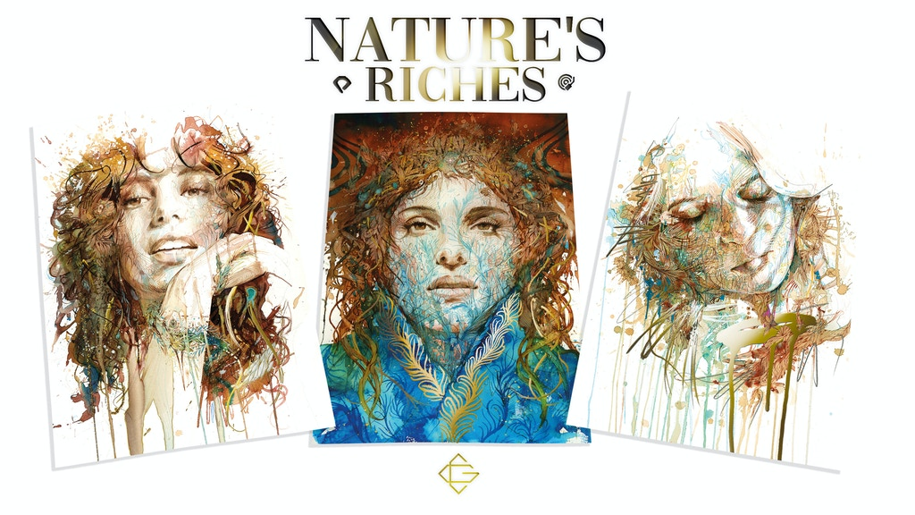NATURE'S RICHES: Paintings in ink and tea - mini Foil Prints project video thumbnail