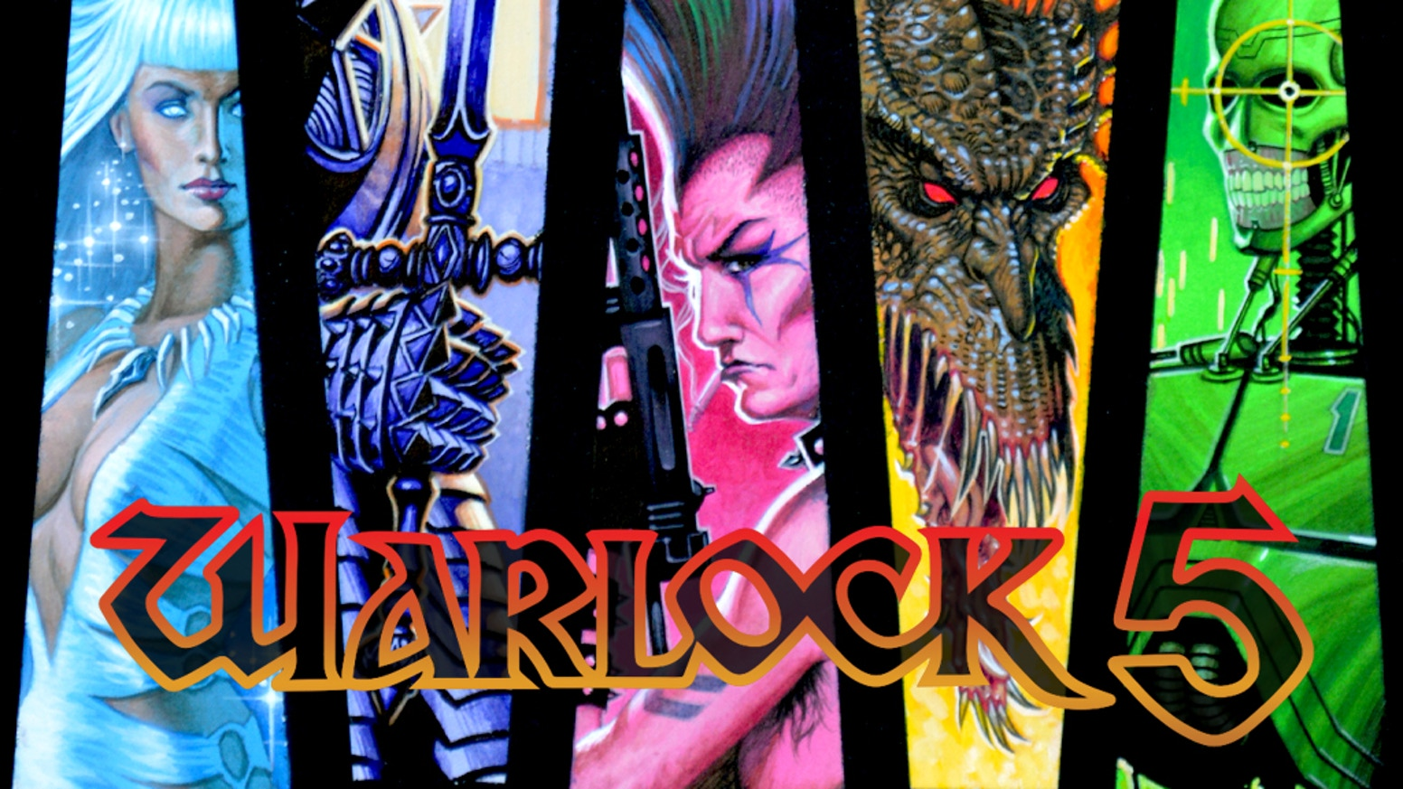 A collected omnibus of the original Warlock 5 comic series from Den Beauvais and Gordon Derry + THE UNRELEASED ISSUES 14 & 15!