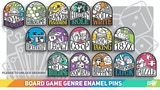 Board Game Genre Enamel Pins thumbnail