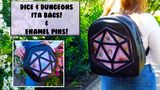 Dice and dungeons ITA Backpacks, Sidebags and enamel pins! thumbnail